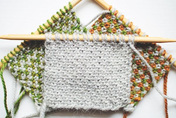 Linen Stitch.  Everyone's favorite.  How to Knit the Linen Stitch With 1, 2 and 3 colors - very nice single-page instruction with examples and hints