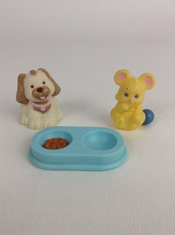 Vintage 1993 94 Fisher Price Loving Family Dream Dollhouse Toys Dog