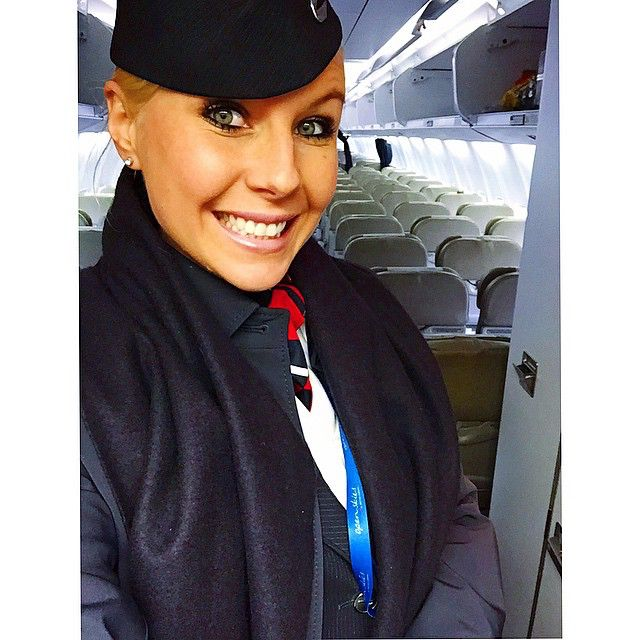 British Airways Crewfie. .  Just arrived in New-York City, and I wanted to wish you all a happy Easter Monday