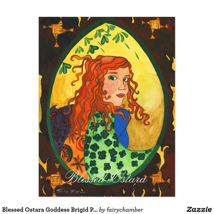 Blessed Ostara Goddess Brigid Postcard