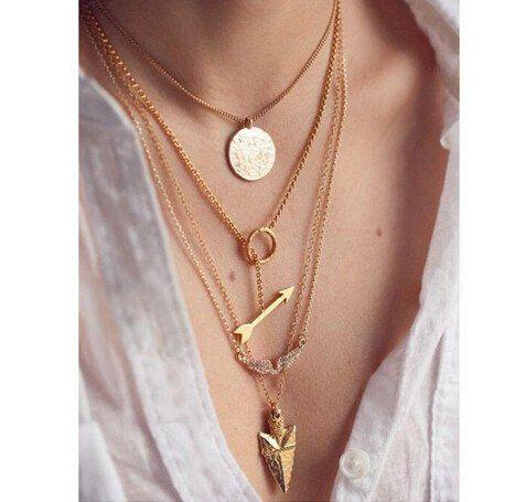 4 Layer Pendant Necklace