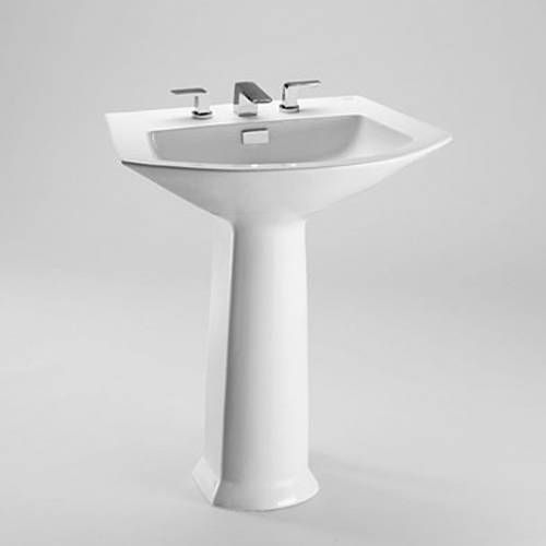 Single Hole Pedestal Sink : Soiree Single Hole Pedestal Bathroom Sink Sink Bathroom, Pedestal ...