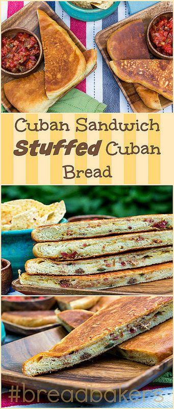 Cuban Sandwich-Stuffed Cuban Bread for #breadbakers Yum!