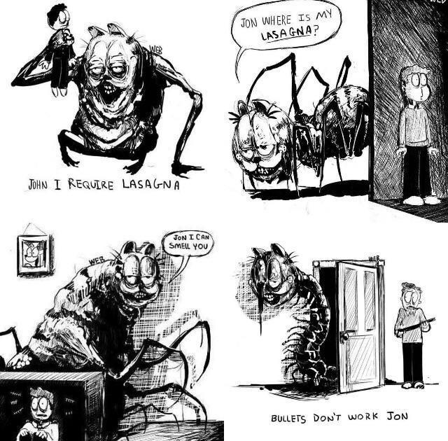 Growlfield Shapeshifter Of The Lasagna Bossfight Lovecraftian Horror Creepy Art Horror