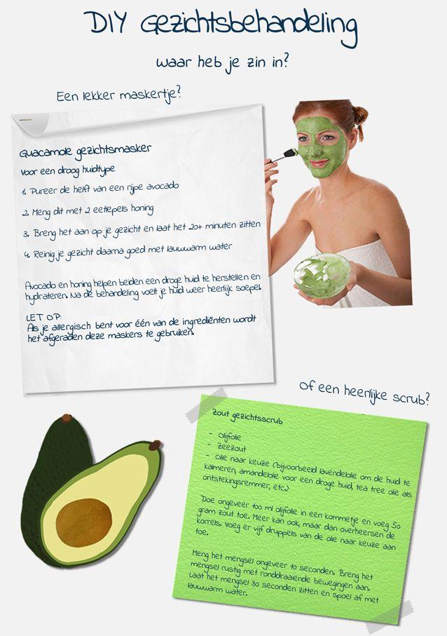Een DIY-gezichtsbehandeling met avocado! Ga voor een gezichtsmasker of een heerlijke scrub! Voor meer info; check de Treatwell blog!