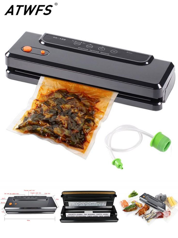 [Visit to Buy] ATWFS Multi-function Vacuum Sealing Machine Home Best Vacuum Sealer Fresh Packaging Machine Food Saver Vacuum Packer Bags 150W #Advertisement