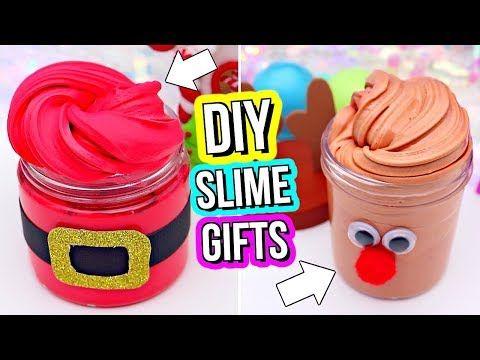 6 DIY Christmas Slimes! How To Holiday Slime! - YouTube