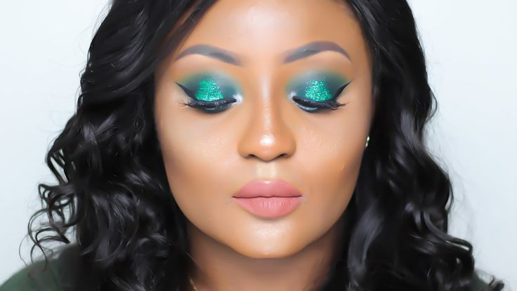 Green Glitter Makeup Tutorial | Nigerian Independence Day Inspired | You...