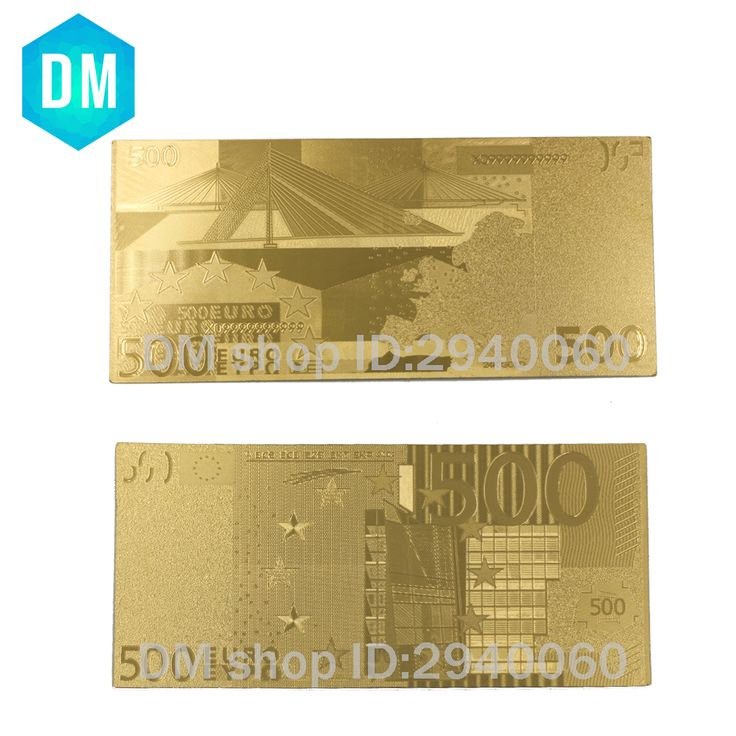 Great NICE Euro Gold Banknote EUR Banknote in K Gold Plated Paper Money For Collection