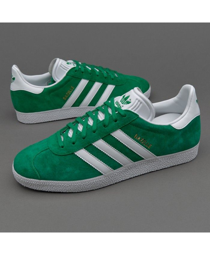 Adidas Sale Originals Gazelle Green White Gold Trainers