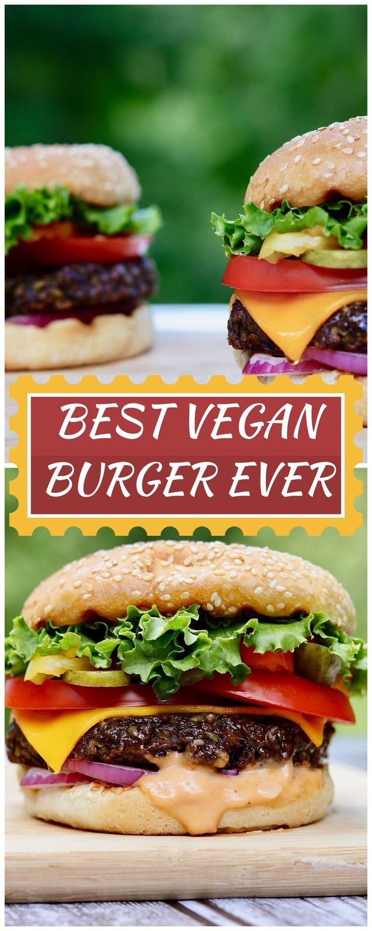 mejor receta de hamburguesa vegana en tabla de cortar de madera