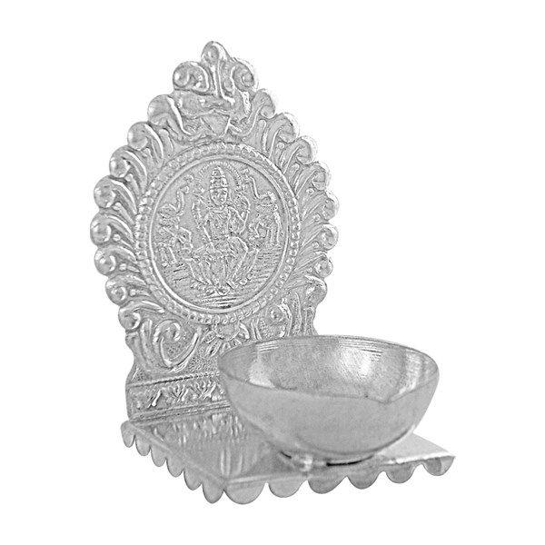Jpearls Lakshmi Silver Diya in 20 Grams | Pure Silver Articles | Silver Accessories