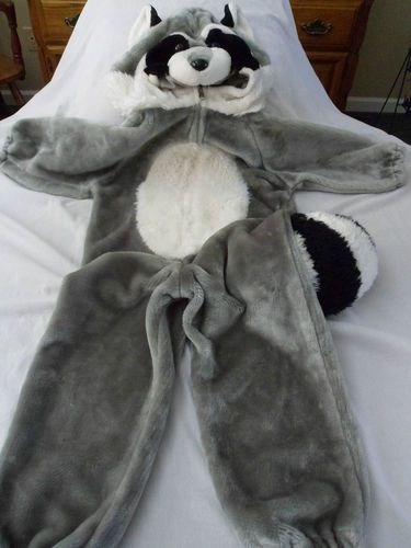 Plush Raccoon Costume Meeko Halloween Dress Up M 3 5 4 6