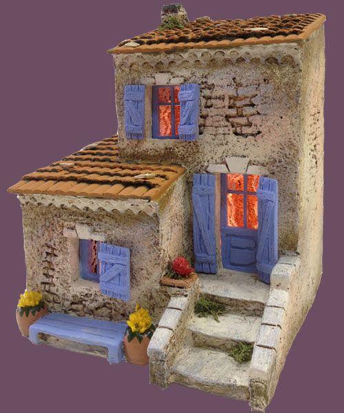 Santons Atelier de Fanny-Santons et Crèches de Noël-Santons de Provence - Maison de village n°5 - 52.00 EUR