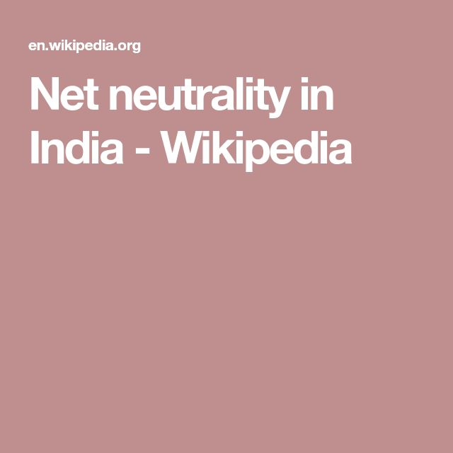 Net neutrality in India - Wikipedia