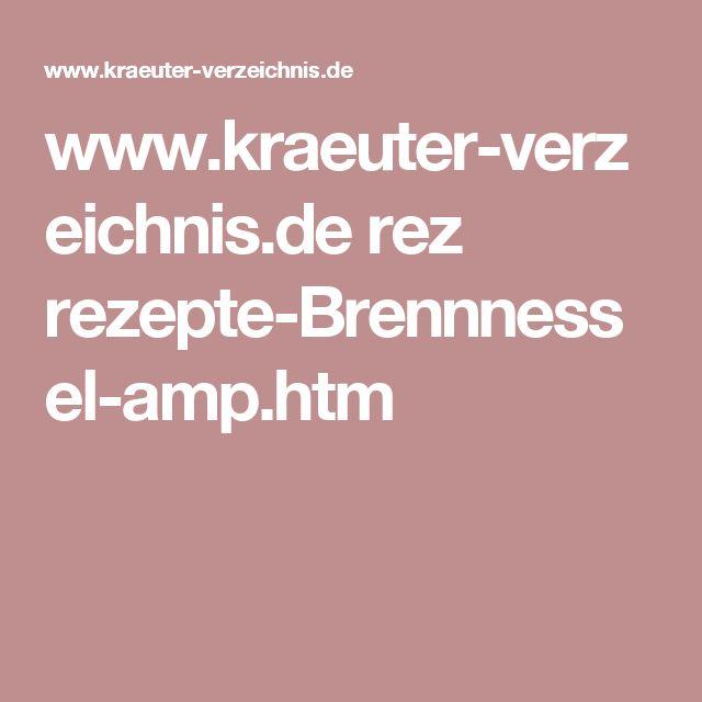 www.kraeuter-verzeichnis.de rez rezepte-Brennnessel-amp.htm