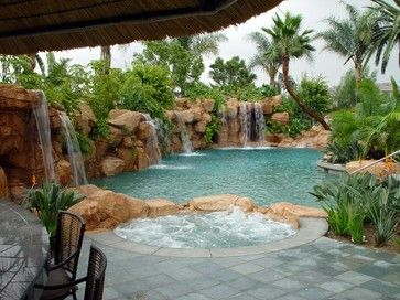 Best 25 tropical pool landscaping ideas on pinterest for Pool design orange county