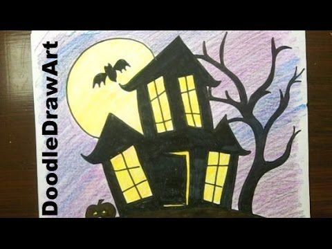 Hey everyone! Draw this haunted house with me! it's easy, I'll show you how! More great halloween drawing ideas here: http://doodledrawart.com/halloween-draw...