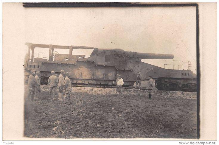 Equipment - ¤¤ - Carte-Photo Militaire - Guerre 1914-18 - Canon sur un Train , Convoi de Chemin de Fer - ¤¤