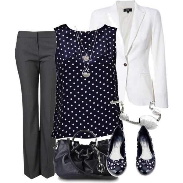 """""""professional in polka dots"""" by meganpearl on Polyvore"""