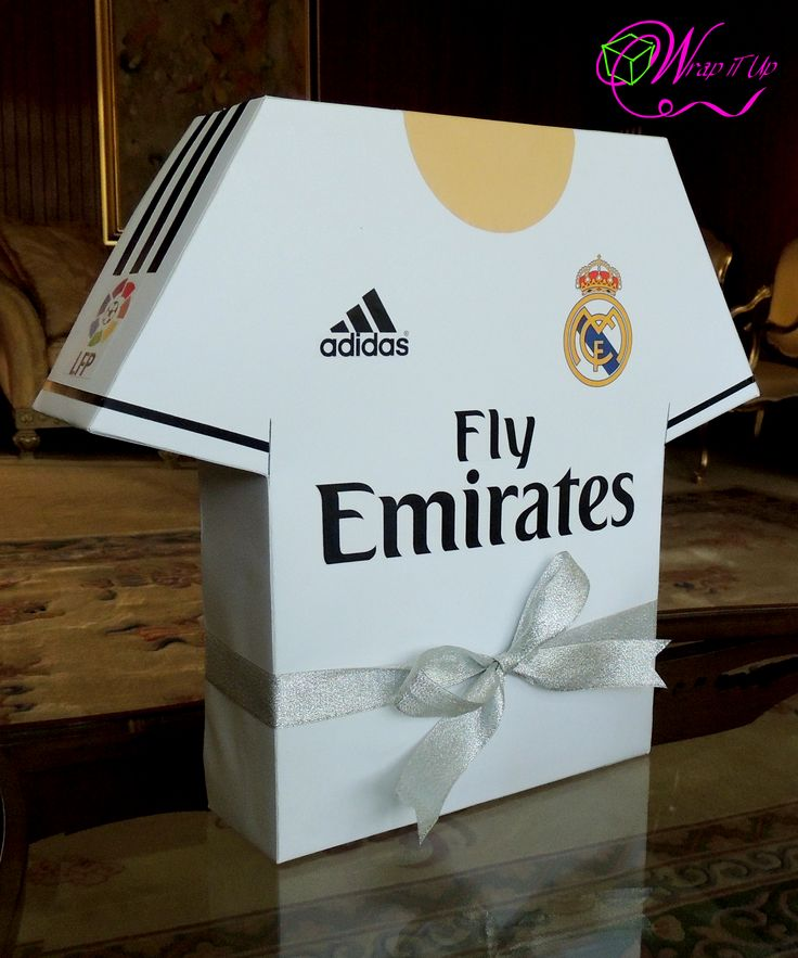 REAL MADRID themed handmade gift box in a form of T-shirt for 'His' Birthday.