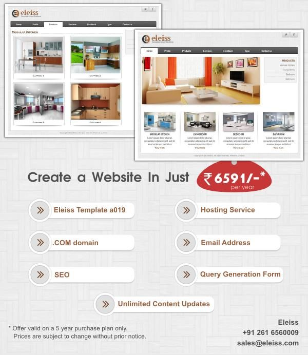 A #web #template for #interior, #furniture, #furnishing, #hospitality, #jewellery business. #Eleiss template: a019