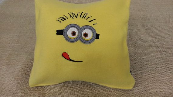 2 Eyed Minion Pillow Cover by Thredz4Kidz on Etsy, $14.00