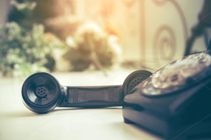 Old black phone by totojang1977 on @creativemarket