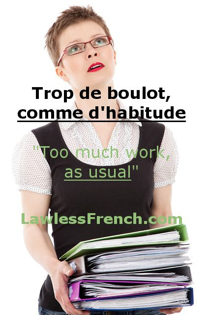 Lesson on the French expression comme d'habitude: http://lklawl.es/2oTsJa8