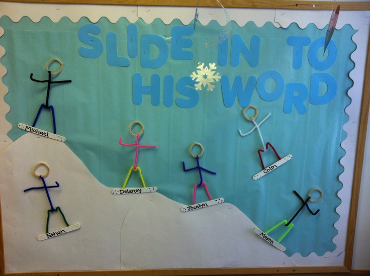 """Slide into His Word"" Bulletin Board - January"