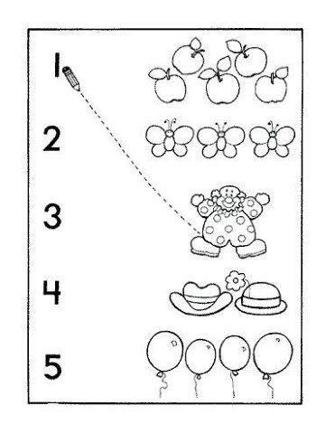 26 Ejercicios para aprender a contar, Relación número ...