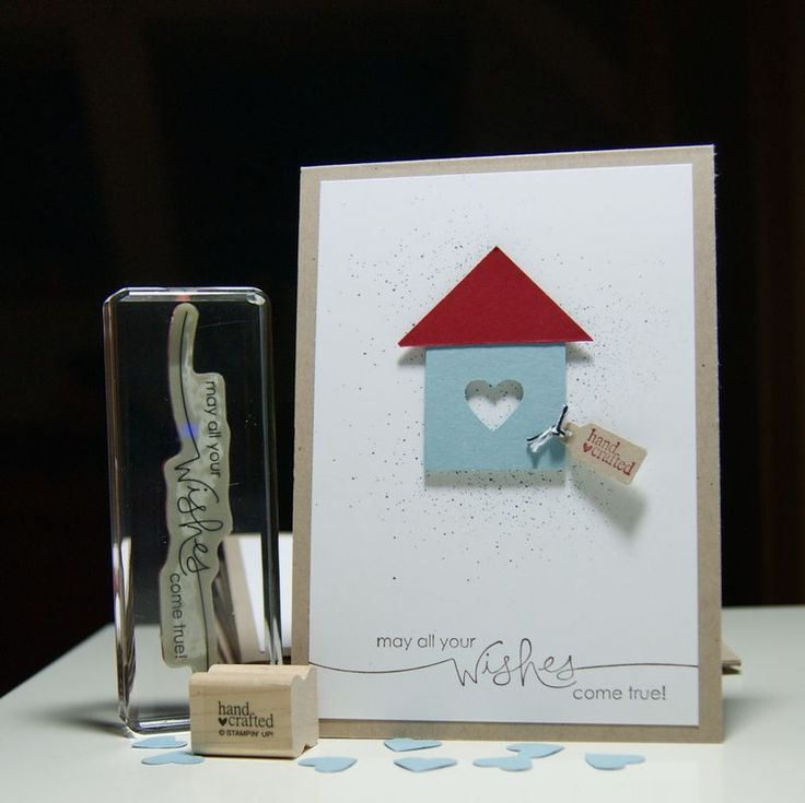 die ist doch supercool zum Umzug ....: Moving Card, Birdhouse, New Home Cards Ideas, House Card, Housewarming Card, House Warming Card Ideas, New Home Card Ideas, House Idea, Card Housewarming