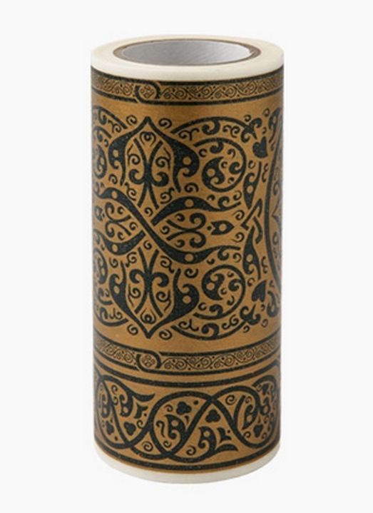 Decolfa Interior Masking Tape 3.9 Inch Damask Gold M3707 For Decorate Home Art