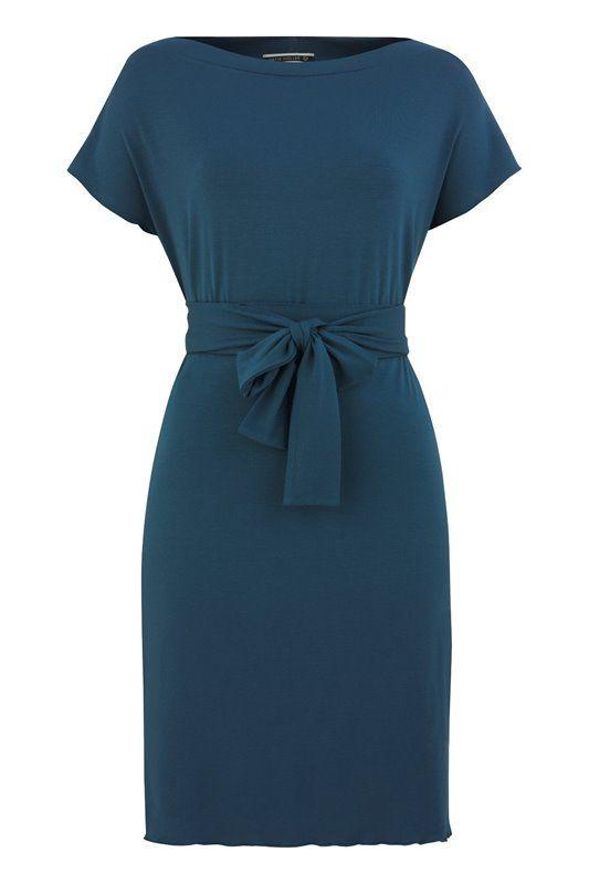 Classic Jersey square dress - majolica blue (kjole)