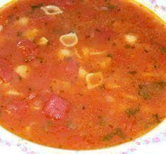 Recette : Soupe coquilles et aux tomates.