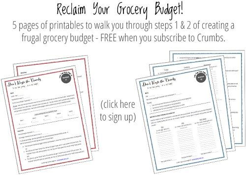 Creating a Frugal Grocery Budget {A Series} – Part 2 | http://dontwastethecrumbs.com/2013/12/creating-a-frugal-grocery-budget-a-series-part-2/