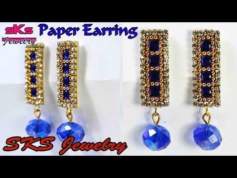 How to make Eye Pin Hoop / Stud Earring Tutorial | 2 in 1 | Silk Thread Jhumka | DIY - YouTube