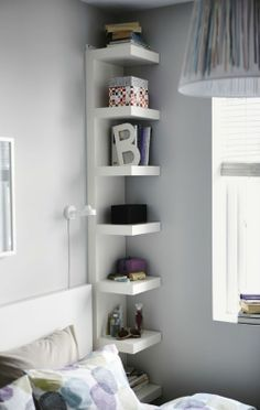 IKEA Fan Favorite: LACK shelf. Narrow shelves help you use small wall spaces effectively by accommodating small items in a minimum of space.