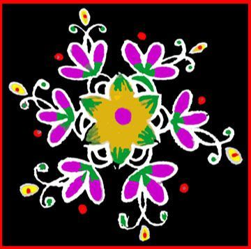 Simple rangoli designs with  easy color,See more ideas about photos rangoli, Rangoli designs simple diwali and Rangoli images...