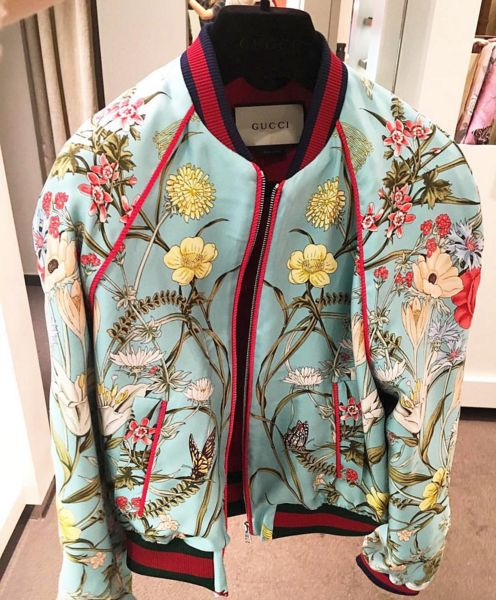 Get @mademoiselle_yulia's quirk on with @gucci floral bomber, and read more on her eclecticism on our blog, link on bio! #WomenKrushWednesdays