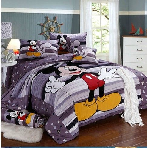 Mickey Mouse Bedding Full Size | mouse bedding sets queen,popular mickey comforter,full/queen/king size ...
