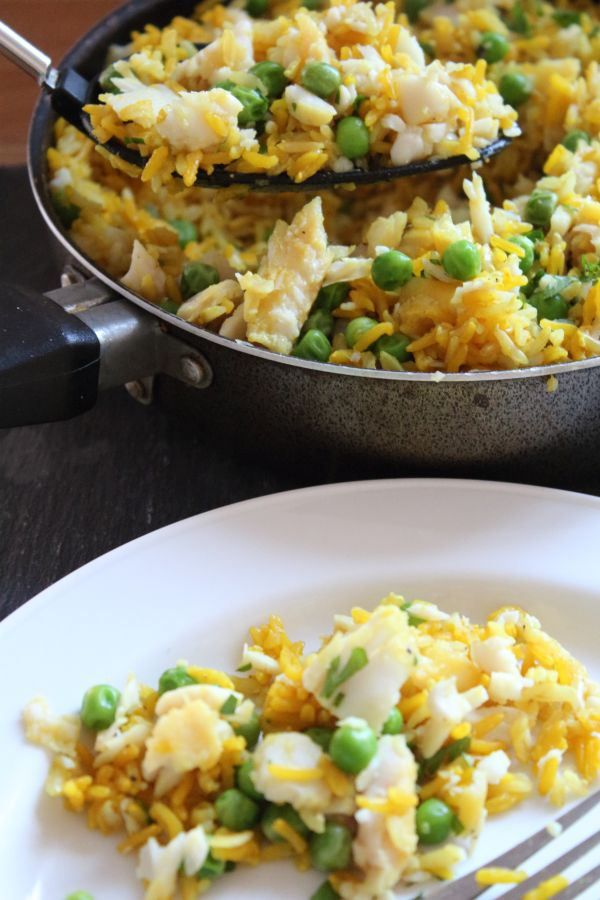 This amazing rice and fish, kedgeree recipe is our family favourite. It's quick to make full of protein, essential vitamins and minerals and also making it with wholegrain rice means it's healthier!