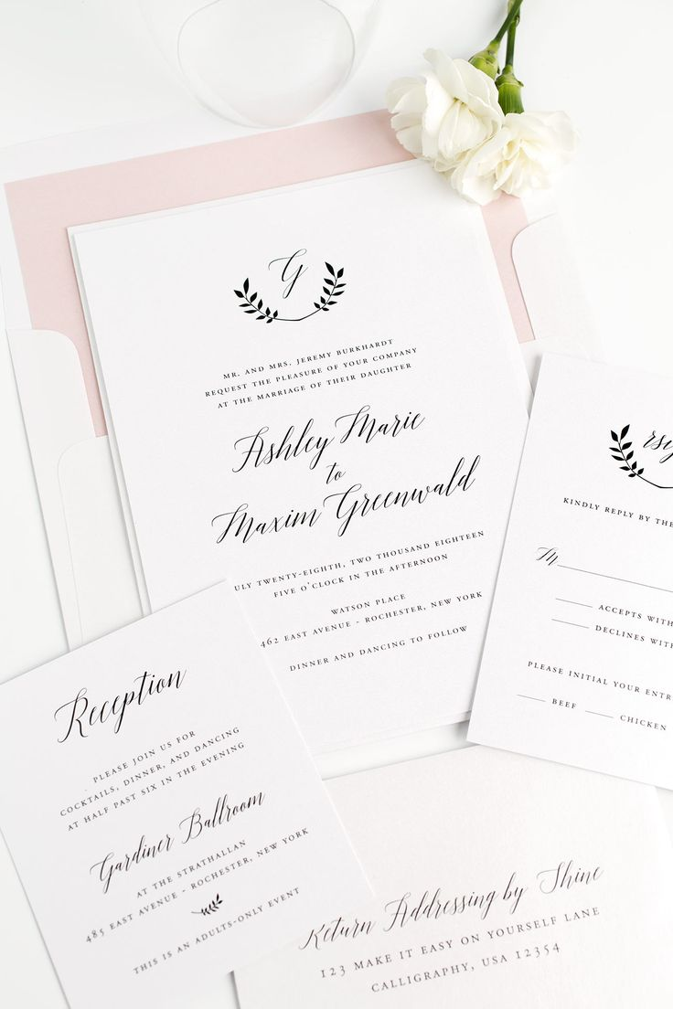 Best 34 Wedding Invitations images on Pinterest | Free printable ...