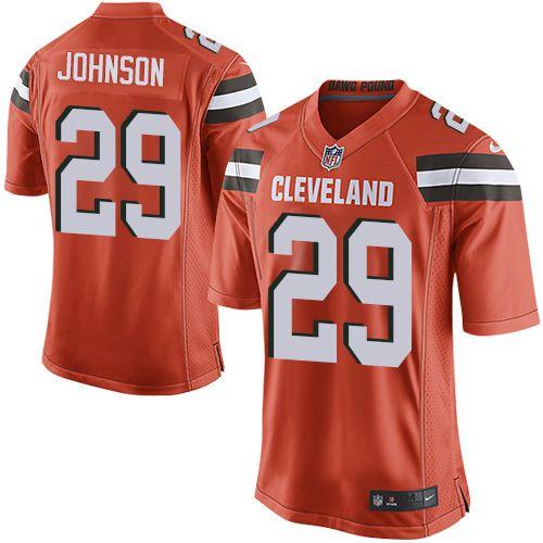 $24.99 Nike Game Duke Johnson Orange Men's Jersey - Cleveland Browns #29 NFL Alternate