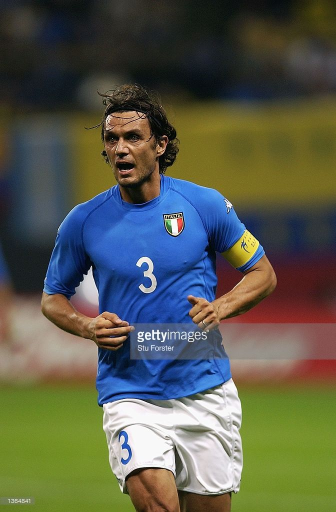 Paolo Maldini of Italy during the Italy v Ecuador, Group G, World Cup Group Stage match played at the Sapporo Dome, Sapporo, Japan on June 3, 2002. Italy won the match 2 - 0.