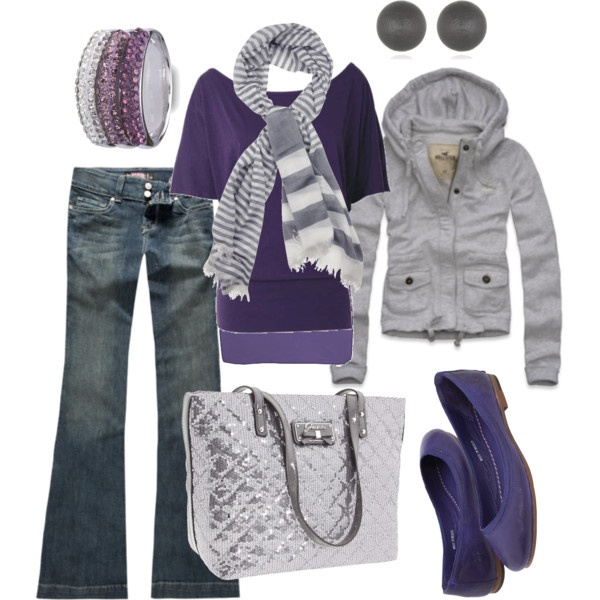 grey & purpleDreams Style, Fashion Outfit, Fashionista, Clothing Style, Purple, Dresses, Wardrobes, Wear, Dreams Closets