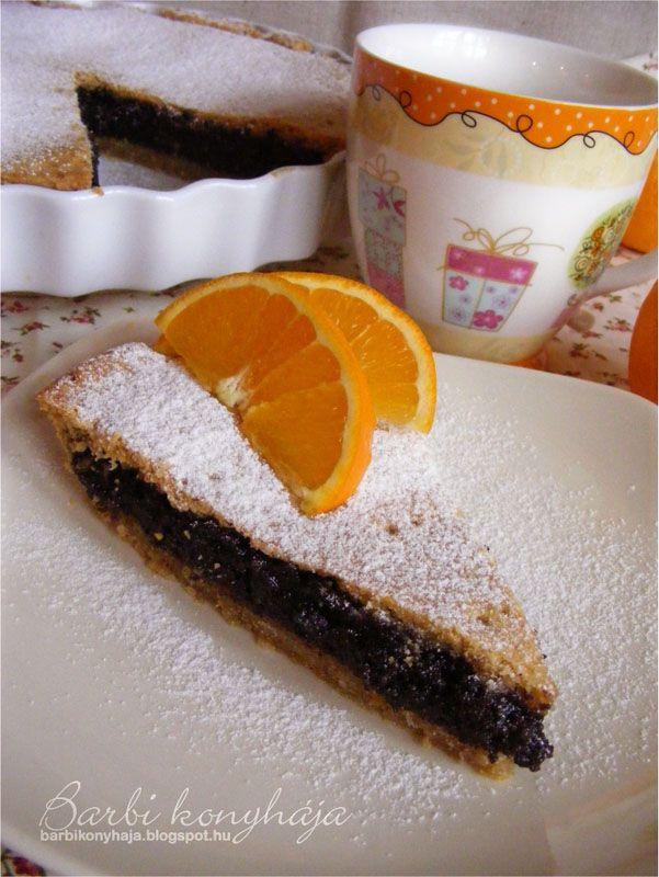 Barbi konyhája: Mákos narancsos pite
