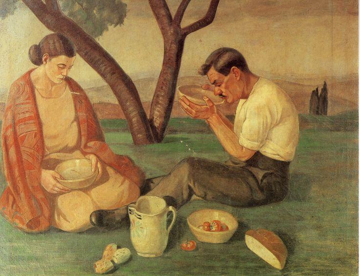 Contadini, 1925 by Pippo Rizzo (Italian 1897-1964)   Archivio Pippo Rizzo