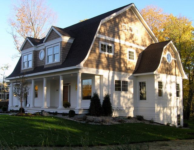 Shingle Style Dutch Colonial Exterior – traditional – exterior – minneapolis – Ron Brenner Architects