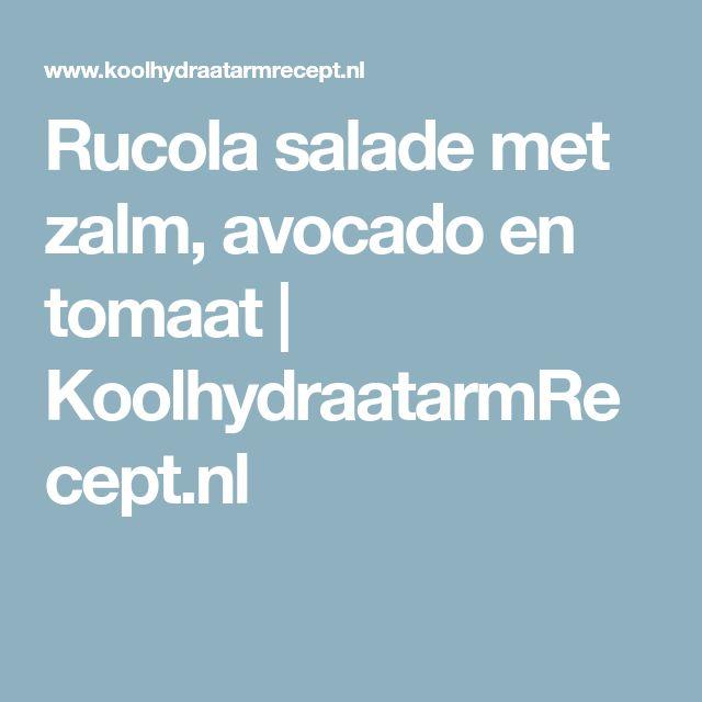 Rucola salade met zalm, avocado en tomaat | KoolhydraatarmRecept.nl